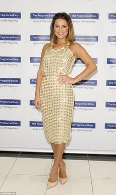 Glam: Samantha Faiers made a personal appearance in Glasgow to launch her signature fragra...
