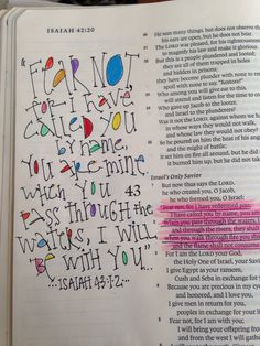 FEAR NOT I have call you by name. Isaiah 43:1-2 Original art-J.Meier