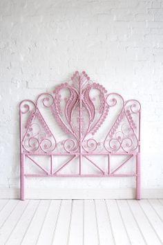 Shop | Peacock Bed Heads | Queen | What's New | Queen Peacock Bed Head Pastel Pink