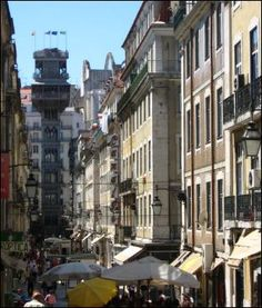 Santa  Justa Elevator, only vertical street lift in Lisbon. Built in 1902, takes you above the city to view old town.