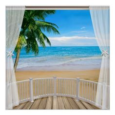 Balcony with a Beach Ocean View Panel Wall Art - ocean side nature waves freedom design Ocean Mural, Beach Wall Murals, Beach Wallpaper, Panel Wall Art, Beach Scenes, Beach Art, Art World, Balcony, Ramen