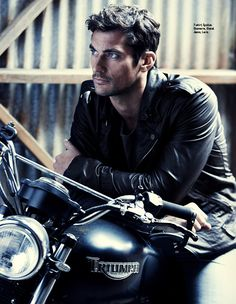 Leather and motorcycle