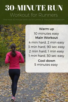 4 Effective 30 Minute Workouts for Runners {Run It} Short on time or don't want to run in the cold? Make the most of your training time with one of these four 30 minute workouts for runners. Treadmill Workouts, Running Workouts, Running Tips, Easy Workouts, Cardio, Workouts For Runners Training, Trail Running, Treadmill Running, Running Form