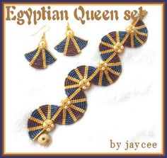 bead tutorial circular seed bead | love the colors that the ancient Egyptians used in their jewelery ...