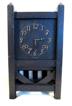 Simple yet stylish Sessions Mission Style Clock. Classic Clocks, Book Racks, Tic Toc, Pyrography, Screens, Bungalow, Craftsman, Mirrors, Frames