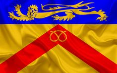 Download wallpapers County Staffordshire Flag, England, flags of English counties, Flag of Staffordshire, British County Flags, silk flag, Staffordshire