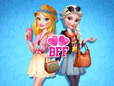 Spend a fun and fashionable day with Elsa and Barbie by playing Barbie And Elsa BFFs! Play Barbie, Princess Zelda, Disney Princess, Games For Girls, Bffs, Fun Games, Elsa, Disney Characters, Fictional Characters