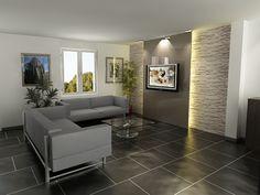 Mur de pierre encardement tv magnifique