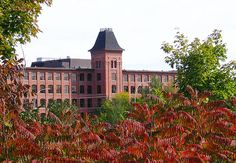 View of the Cotton Mill, Marysville, New Brunswick, New Brunswick Canada, Discover Canada, Cotton Mill, Prince, How To Speak French, The Province, Capital City, Old Things, Mansions