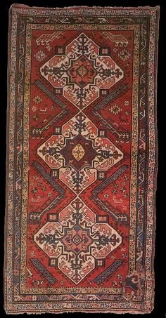 Antique Karabagh rug, Elisabethpol Governorate  possibly Shusha Uyezd. The State Museum of Azerbaijan Carpet and Appiled Art.