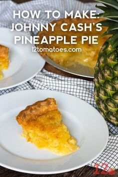 How To Make Johhny Cash's Pineapple Pie Johnny Cash's Pineapple Pie – A simply sweet southern pie. Delicious Desserts, Yummy Food, Baking Basics, Pineapple Recipes, Pie Cake, Pie Dessert, Healthy Nutrition, Healthy Food, Nutrition Articles