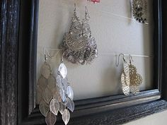 What a great way to display jewelry.