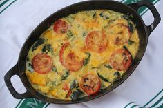 Karen's Kitchen Stories: Zucchini Tomato Gratin (August 2013-This is good. I used 4 zucchini, no red pepper, 2 eggs, sharp cheddar cheese, and green beans. Next time, increase zuch, a few more tomatoes (i used 3 small ones), and use a few more of the fresh herbs.)