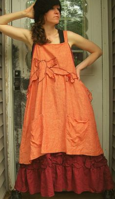 Vine Apron Jumper by sarahclemensclothing on Etsy, $149.00