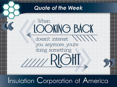 "#Quote of the Week ~ ""When looking back doesn't interest you anymore, you're doing something right."" . #wednesdaywisdom #quotes #quotestoliveby #quotestagram #lookingback #forwardthinking #positiveperspective #keepmovingforward #wordsofwisdom New Quotes, Quotes To Live By, Inspirational Quotes, Quote Of The Week, Keep Moving Forward, Wednesday Wisdom, Looking Back, Something To Do, Positivity"