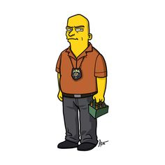 Adrien Noterdaem Gives Breaking Bad Characters The Simpsons Treatment Breaking Bad Cast, Breaking Bad Series, Breaking Bad Jesse, Simpsons Characters, Simpsons Art, Simpsons Funny, Walter White, Trending Clothes For Guys, Hank Schrader