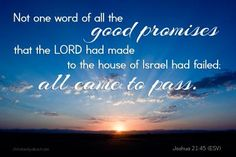 Verse of the Day: God's Word Never Fails - Joshua 21:45