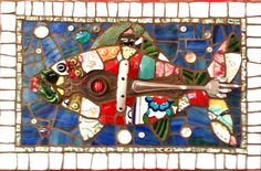 Great Catch by Anja Hertle ~ Maplestone Gallery ~ Contemporary Mosaic Art