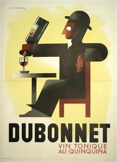A.M. Cassandre Poster. Dubonnet.