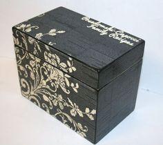 Recipe Box 4x6 4 x 6 Custom - You Design It Handmade Personalized ...
