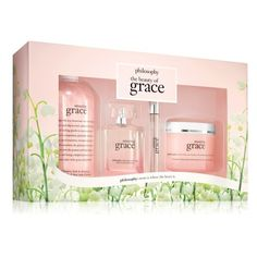 Women's Philosophy Amazing Grace Eau De Parfum Set (1.004.920 IDR) ❤ liked on Polyvore featuring beauty products, fragrance, no color, mist perfume, philosophy fragrance, blossom perfume, bubble bath and flower perfume