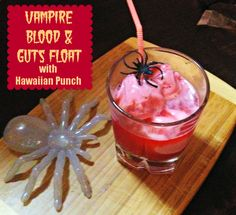 Vampire Blood & Guts Float with Hawaiian Punch #SpookyCelebration #shop #cbias