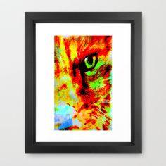 cat's eye Framed Art Print by agnes Trachet - $35.00