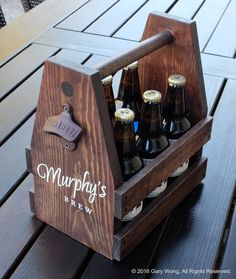 Handmade beer caddy! I put in a lot of care, pride and detail into each caddy. Personalized and made to order! Let me make you a custom beer caddy!