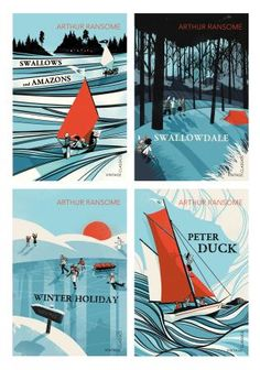 Swallows and Amazons series, new covers by Finnish illustrator Pietari Posti