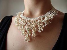 Sady šperkov - Svadobná sada v krémovej farbe (náhrdelník, náušky, sponky) - 732849