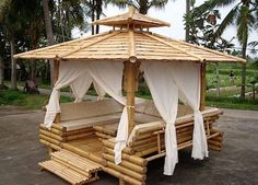 Diseño exteriores de bambú. Ideal para el verano. Estilo. Diseño. Exterior. Glorieta. Pérgola.