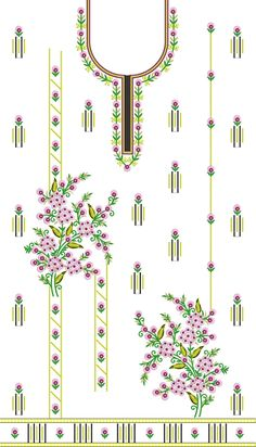 Embroidery Dress in INDIA Embroidery Neck Designs, Embroidery Dress, Bell Design, Fabric Manipulation, Packaging Design, Designer Dresses, Stitch, Kurti, Template