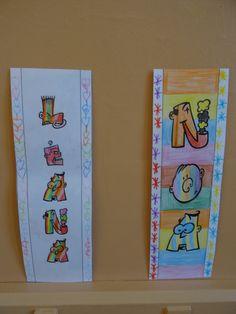 Etiquettes prénom Caricature, Grande Section, Art Plastique, Father, Arts, Cover, Alphabet, Attendance Chart, Classroom Displays