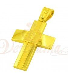 Σταυρός ανδρικός χρυσός Κ14 ST12_005