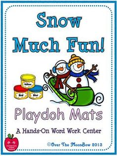 Snow+Much+Fun!+Playdoh+Activity+Pack+from+overthemoonbow+on+TeachersNotebook.com+-++(16+pages)++-+Your+students+will+love+these+winter+themed+playdoh+mats+that+will+help+them+learn+vocabulary+and+develop+their+fine+motor+skills;+a+perfect+complement+to+your+seasonal+themed+activities!