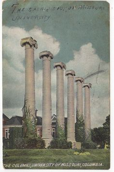 Antique Vintage Postcard The Columns by OldTimePostcards on Etsy, $8.00