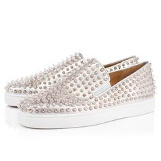 24790637dd9a Christian Louboutin United States Official Online Boutique - Roller-Boat  Men s Flat Silver Silver Leather available online. Discover more Men Shoes  by ...
