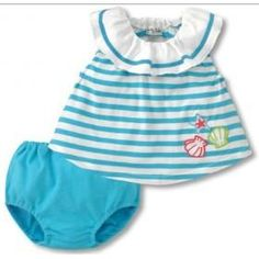 Cute Baby Suit Boys and girls 3-color striped short-sleeved suit children suits