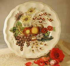Vintage Large Spode Fruit Basket Plate made in by VerasTreasures, £25.00