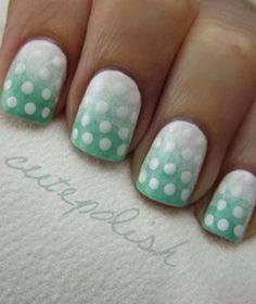Ombré polka dots #cutepolish