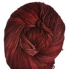 All For Love Of Yarn Opulence Fingering Yarn - Smoldering Red, 80/10/10 merino, cashmere, nylon