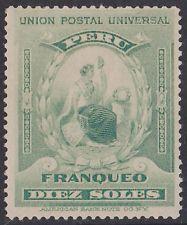 Peru 1899 Liberty 10 Azul-verde Raro Top Value