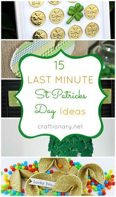 St Patrick's Day   15 Last minute St Patricks Day Crafts - Craftionary