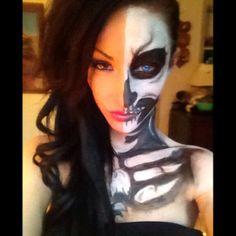 My Halloween makeup. Night 1.