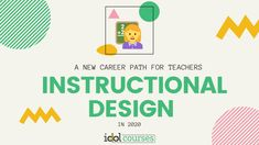 Are you a teacher that seeks a new career? Have you considered Instructional Design? Let me tell you why Instructional Design may be a good fit for you. Instructional Technology, Instructional Design, Educational Technology, Career Path, New Career, Technology Careers, Tools For Teaching, Certificate Programs, New Things To Learn