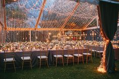 Candlelight-Inspired Wedding in Austin, Texas, Reception Tent with Glowing Lights- Four Seasons Austin Texas