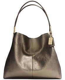 Coach Madison Small Phoebe Shoulder Bag in Metallic Leather (gold) Coach  Handbags, Coach 4931a0adae