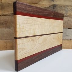 Wood Cutting Board Maple Walnut and Blood wood (Gifts House warming Christmas Wedding Holidays Chef Kitchen Food Serving) by MWAWoodworks on Etsy Best Cutting Board, Wood Cutting Boards, Chopping Boards, Walnut Bedroom Furniture, Wooden Furniture, Furniture Design, Wood Gifts, Wood Plans, Woodworking Projects