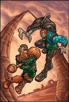 Man-At-Arms vs. Trap Jaw - Masters of the Universe - Michael Borkowski