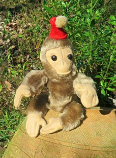 Pongo the Monkey, made in 1936 just in time for Christmas sells of that year. He was the first Character Novelty Company stuffed animal figure using  the special wire patent, which was a method of making toy animal figures with an internal wire frame